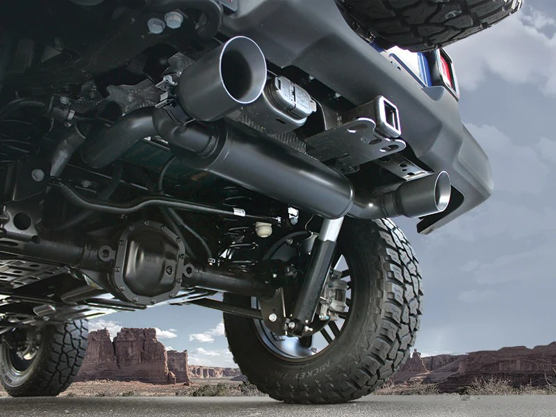 magnaflow dual exhaust system for 18 up jeep wrangler jl jl unlimited