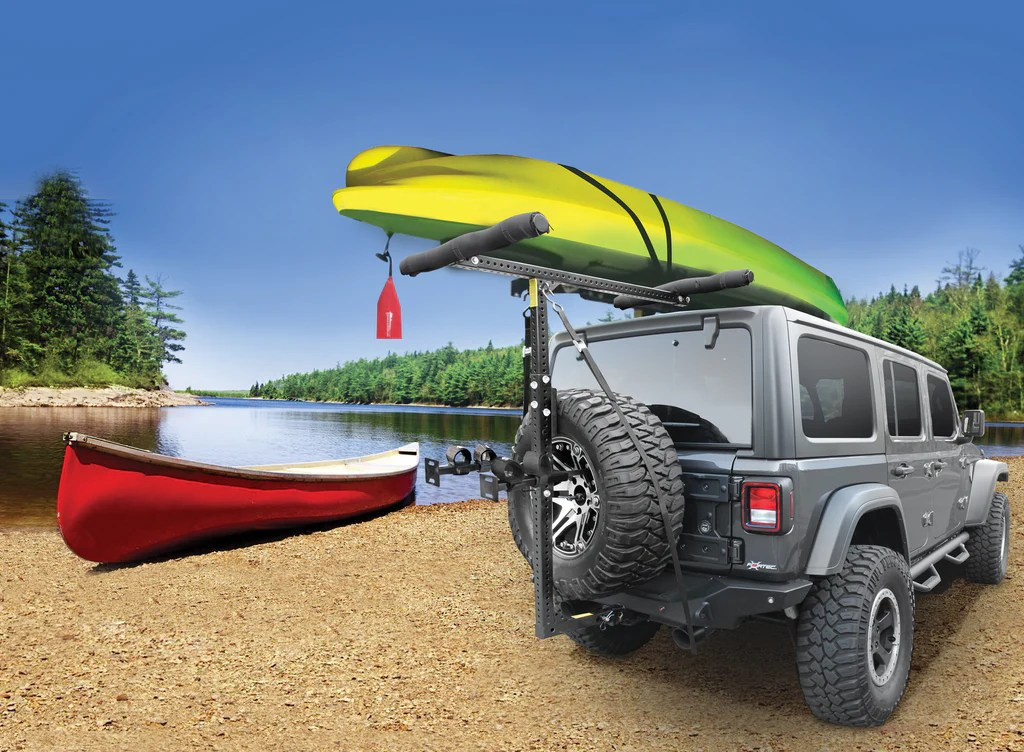 hitchmount rack for canoes