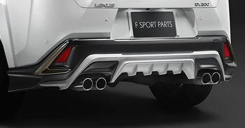 trd japan 2019 2021 lexus ux f sport factory painted rear diffuser kit and dual exhaust system