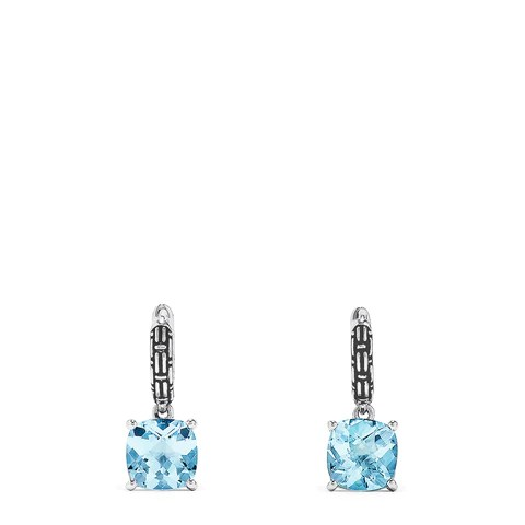 Effy 925 Sterling Silver Blue Topaz Earrings, 4.80 TCW