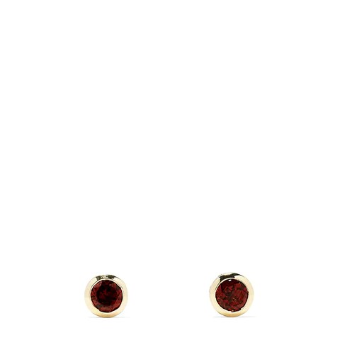 Effy Bordeaux 14K Yellow Gold Garnet Stud Earrings, 1.25 TCW