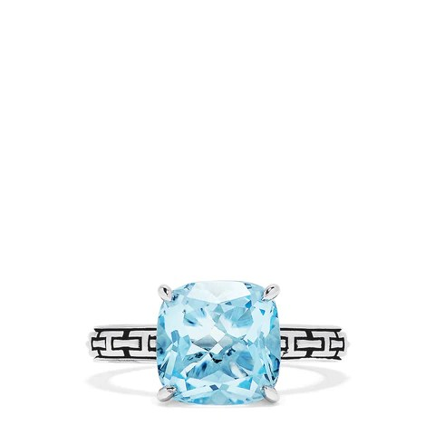 Effy 925 Sterling Silver Blue Topaz Ring, 5.33 TCW