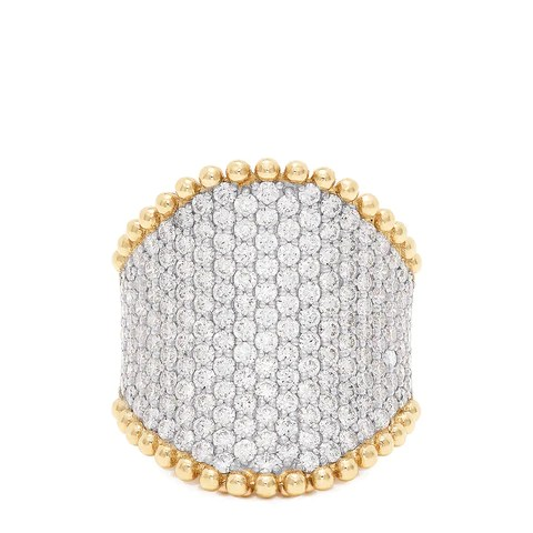 Effy D'Oro 14K Yellow Gold Diamond Pave Ring, 2.50 TCW