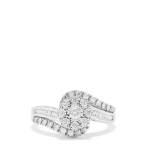 Effy Bouquet 14K White Gold Diamond Twist Ring, 0.48 TCW