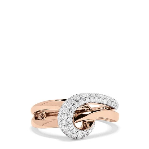 Effy Pave Rose 14K Rose Gold Diamond Pave Loop Ring, 0.51 TCW
