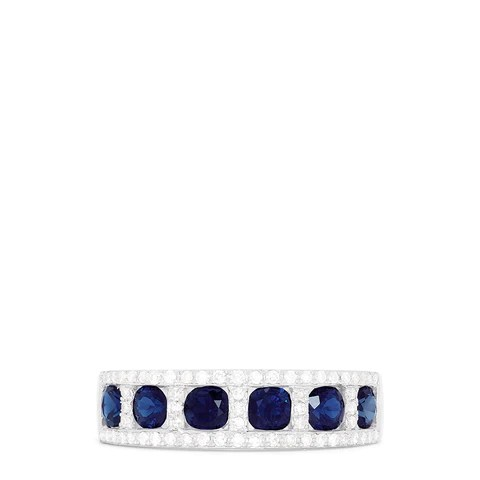 Effy Royale Bleu 14K White Gold Sapphire and Diamond Ring, 1.66 TCW