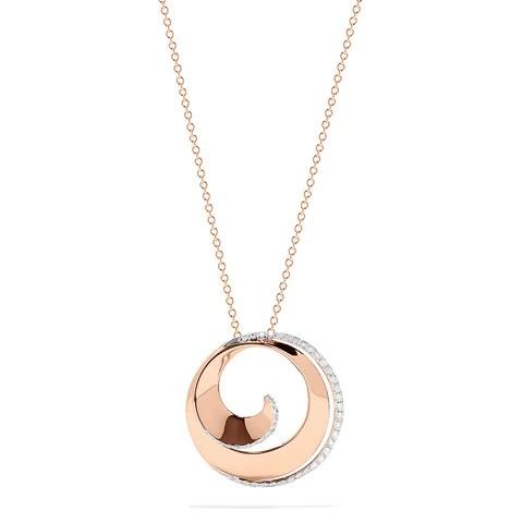 Effy Pave Rose 14K Rose Gold Diamond Spiral Pendant, 0.27 TCW