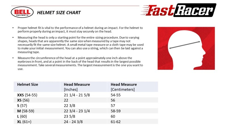 Motorcycle Helmet Size Chart Bell Reviewmotors Co