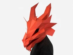 Fire Dragon Diy Paper Mask Template Lapa Studios