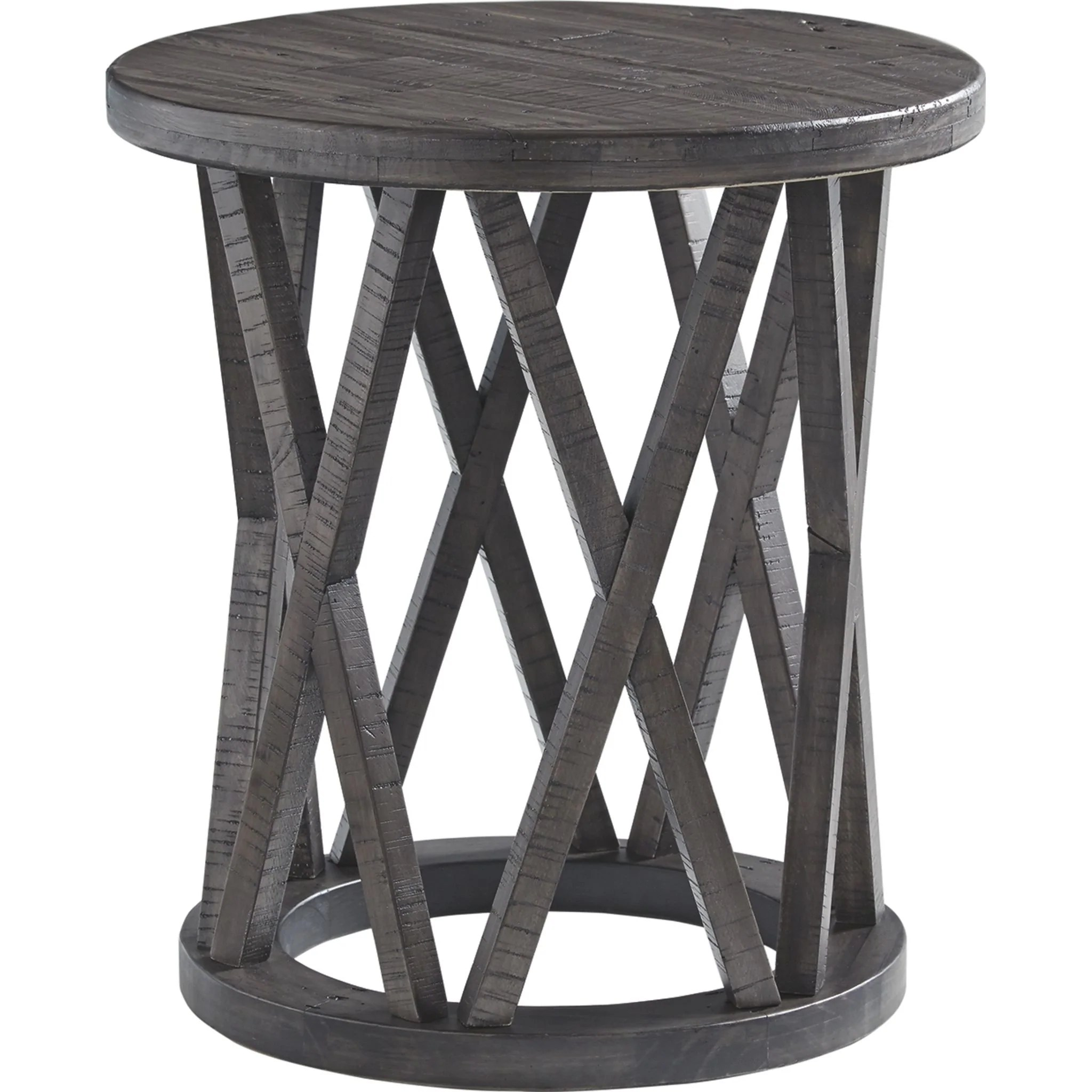 sharzane round end table