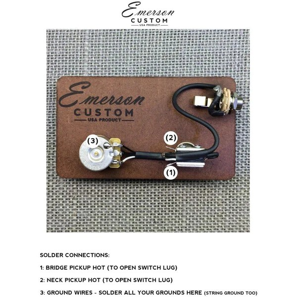 CABRONITA TELECASTER PREWIRED KIT – Emerson Custom
