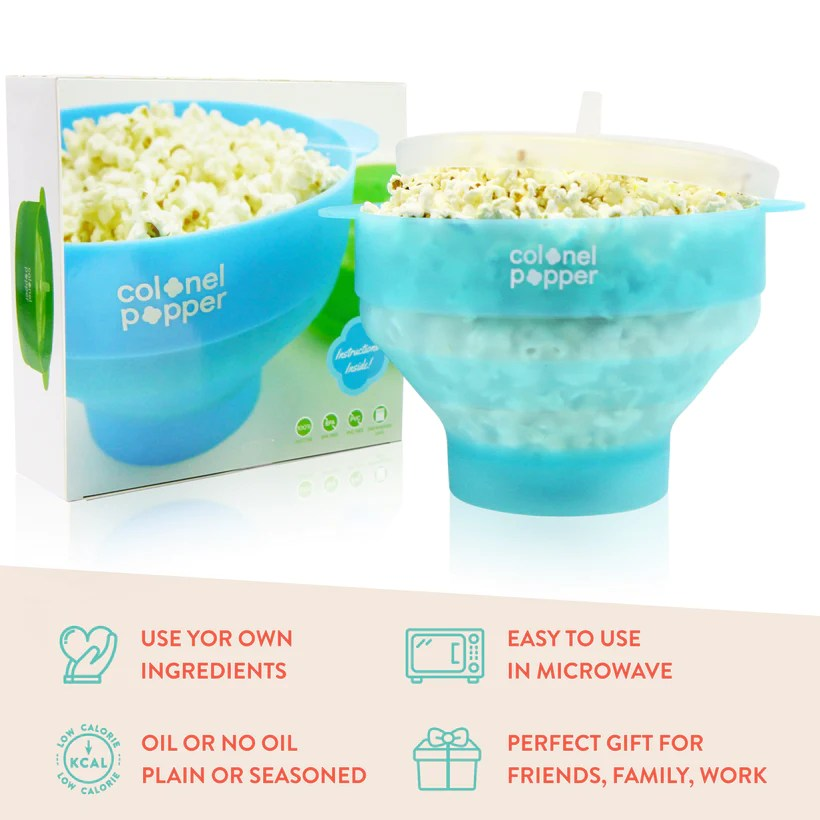 silicone microwave popcorn popper original green