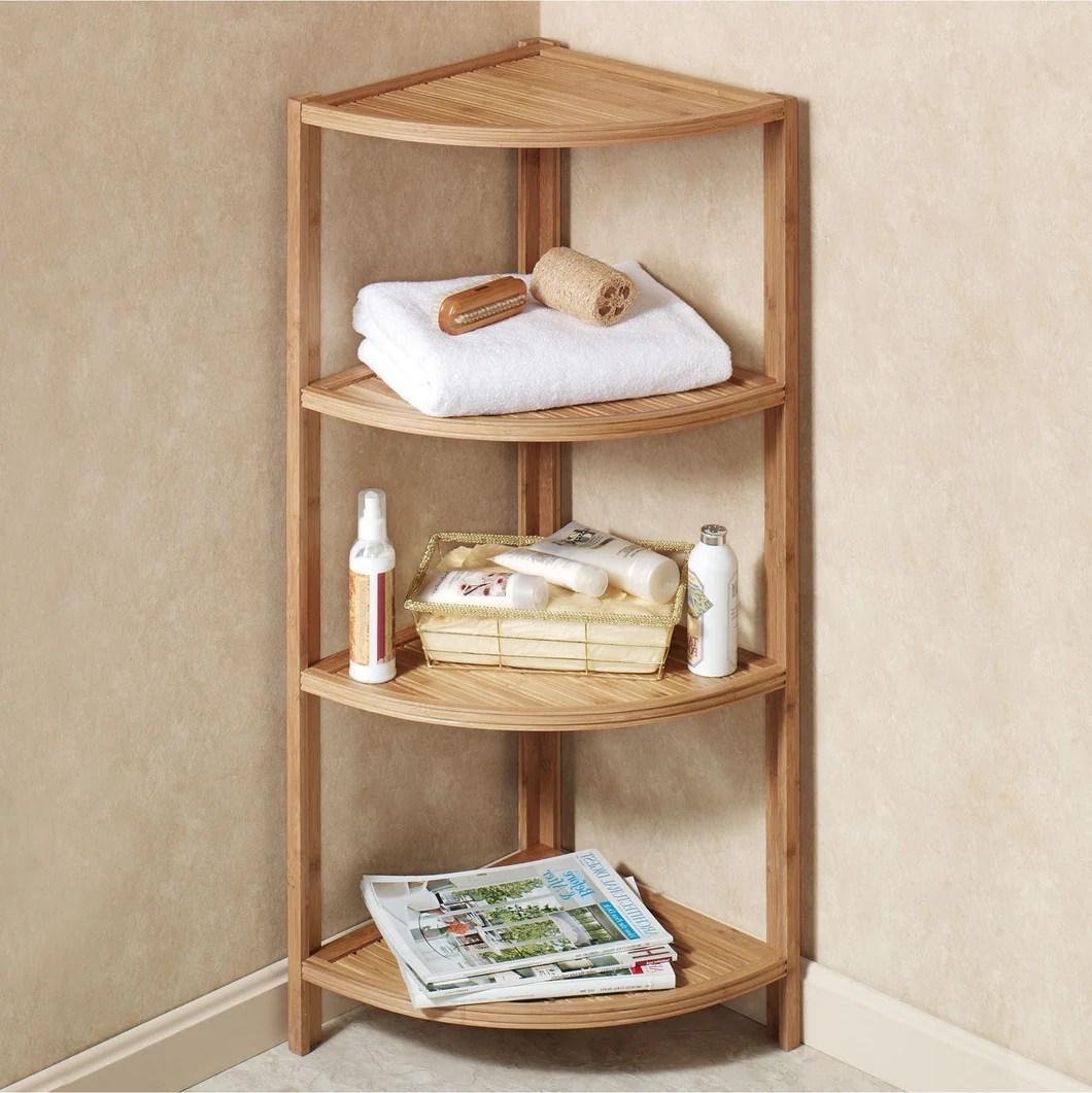 Mosa Bamboo Bamboo Corner Shelf Bathroom Shower Organizer Storage Disp Mosa Home