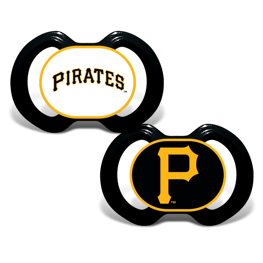 Pittsburgh Pirates 2 Pack Baby Pacifiers Fan Treasures
