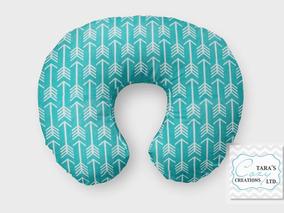 teal herringbone minky nursing pillow cover boppy cover jolly jumper c cover or boomerang cover