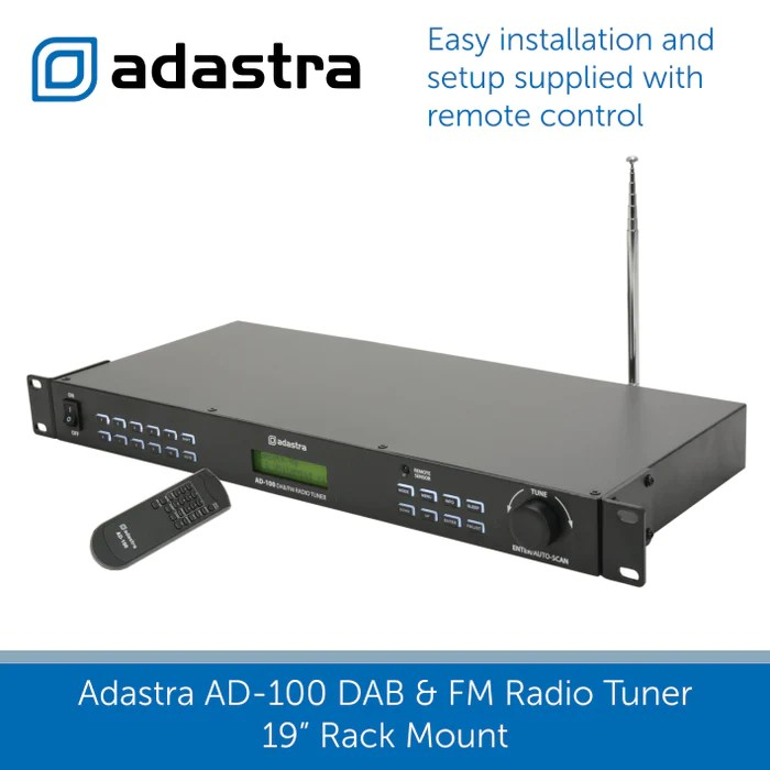 adastra ad 100 dab fm radio tuner 19 rack mount