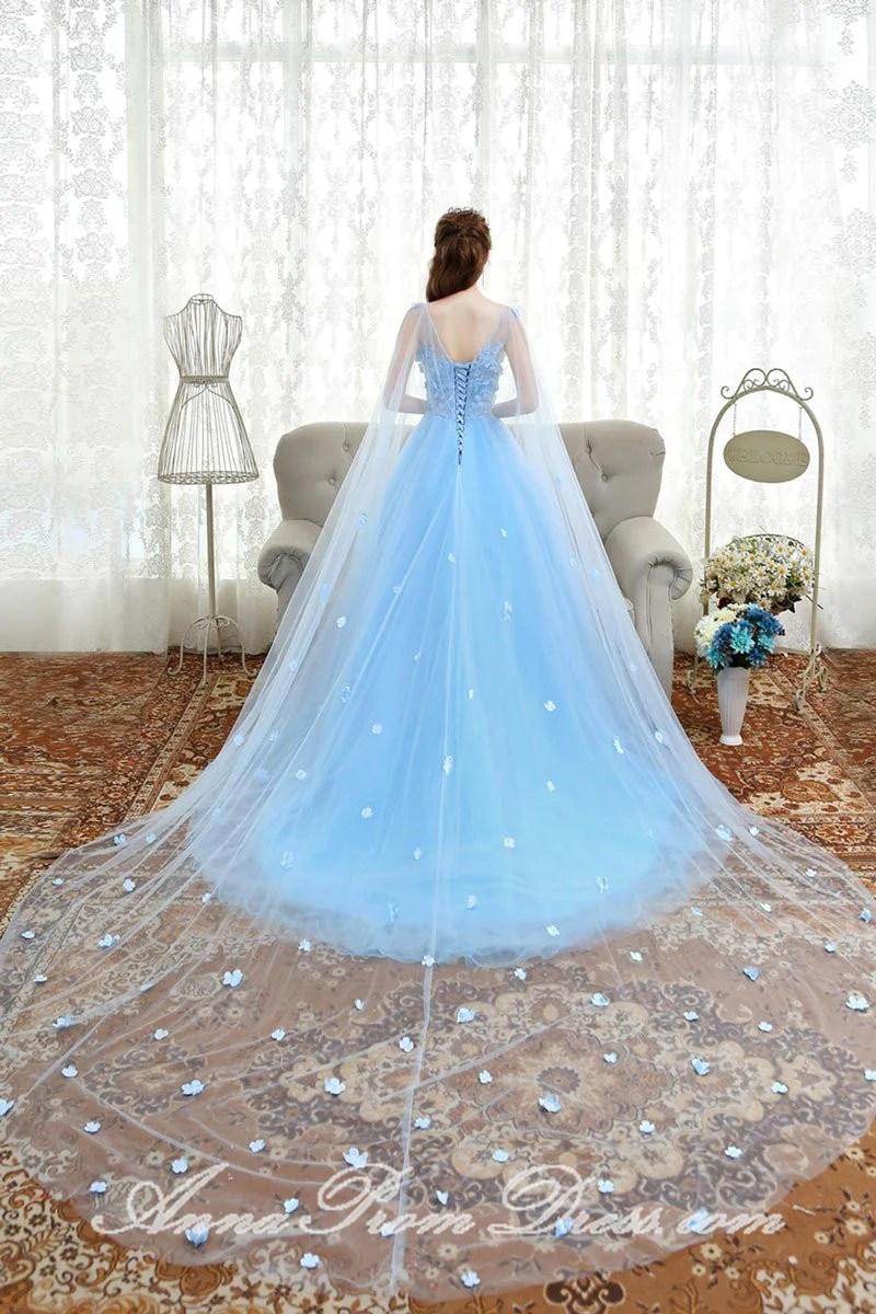 Blue Light Short Bridesmaid Dresses