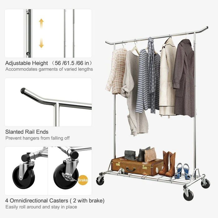 heavy duty commercial garment rack