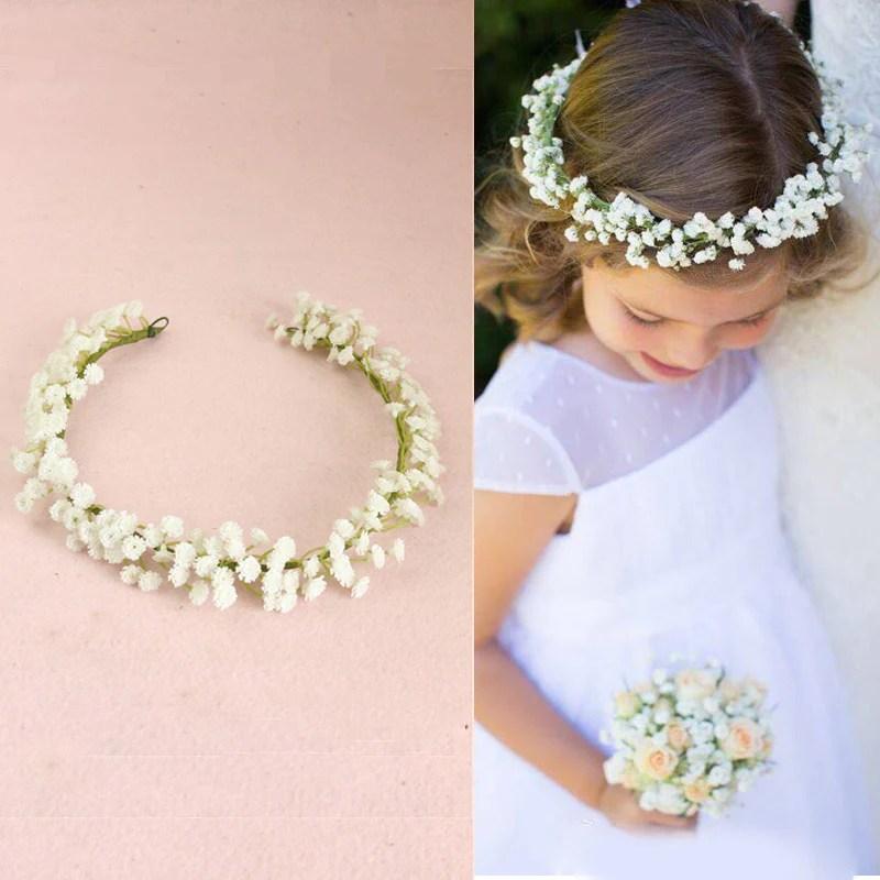wreath flower headband travel flower crown flower girl hair accessories wedding hairbands