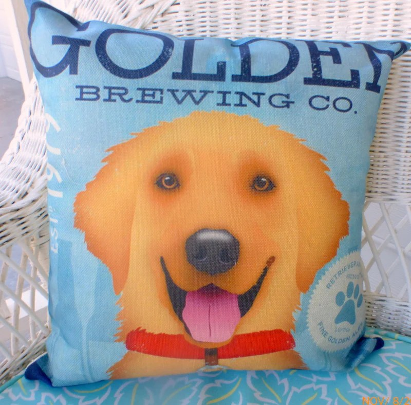golden retriever pillow cover dog pillows pet pillows julie butler creations