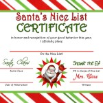 Letter From Santa Nice List Certificate Instant Download Jpeg M10 Quite Possibly Perfect Designs