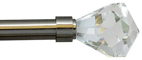 pierre cut crystal drapery curtain rod set 3 4