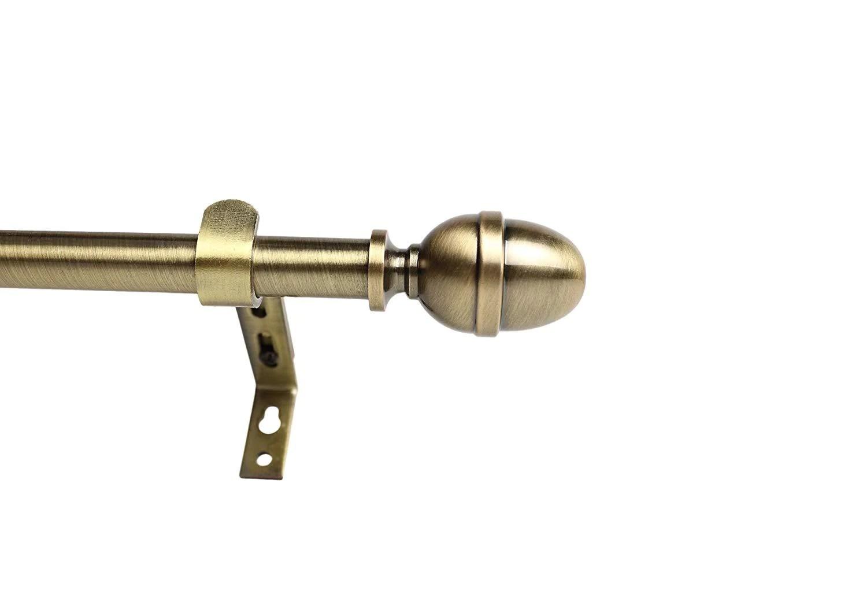 adjustable acorn drapery rod