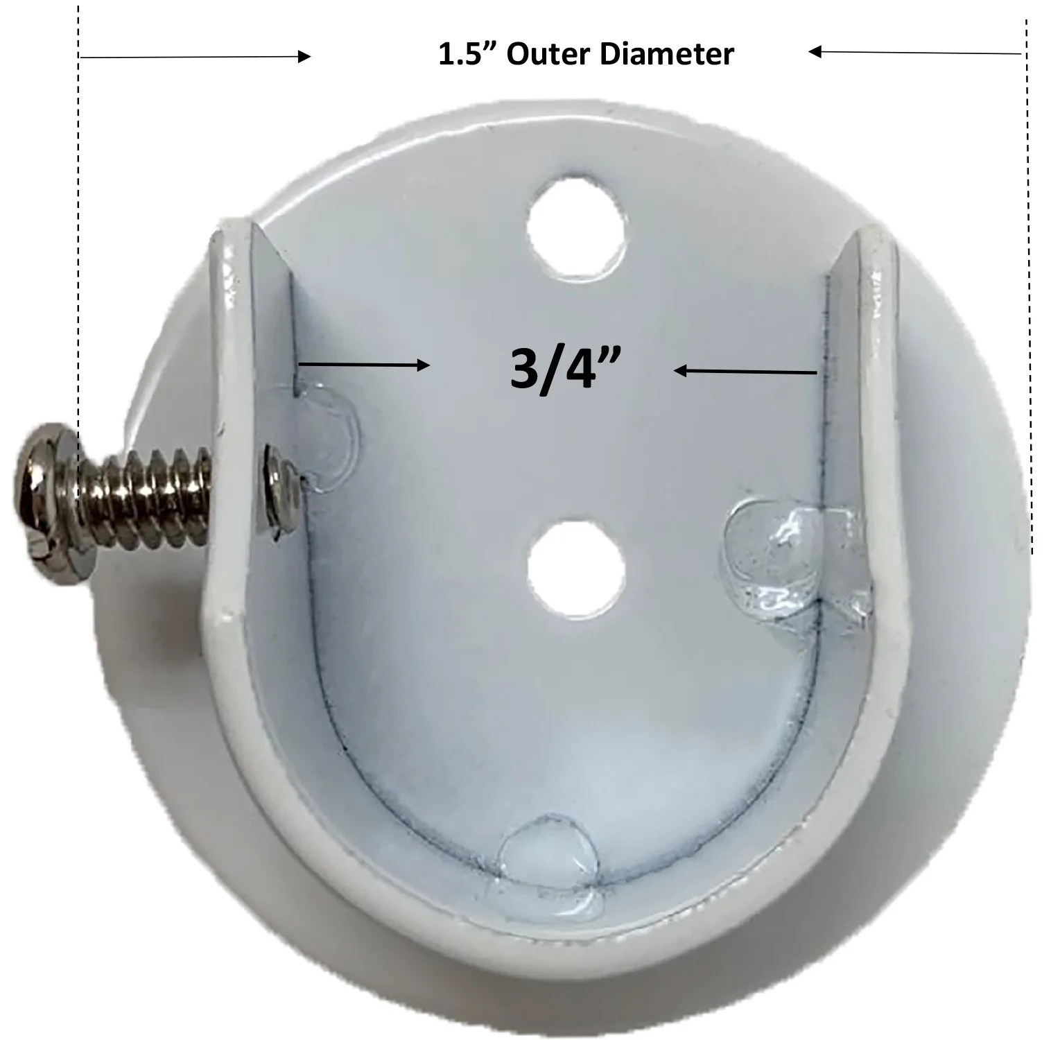 set of 2 inside mount brackets for 5 8 inch to 3 4 inch curtain rods
