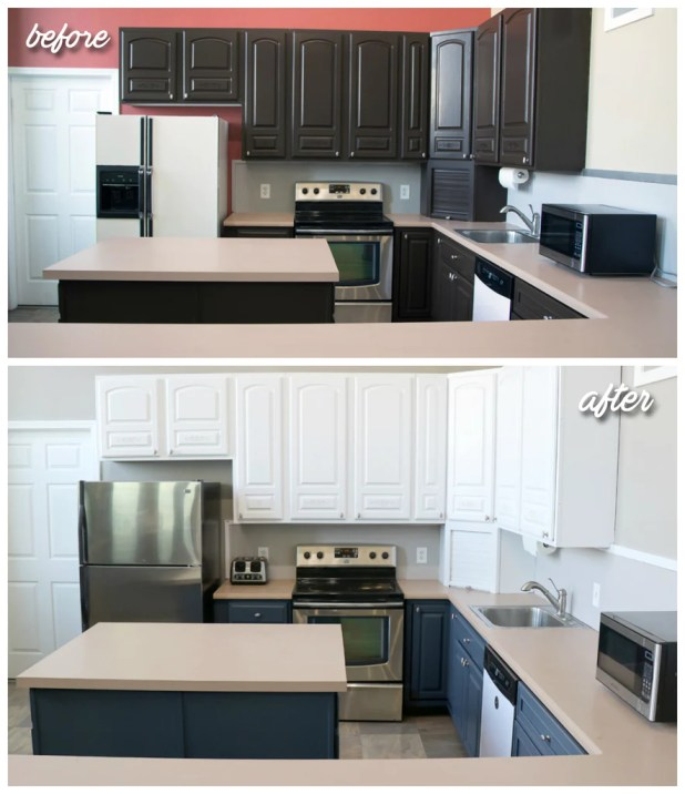 Nuvo Cabinet Paint Before And After Www Stkittsvilla Com