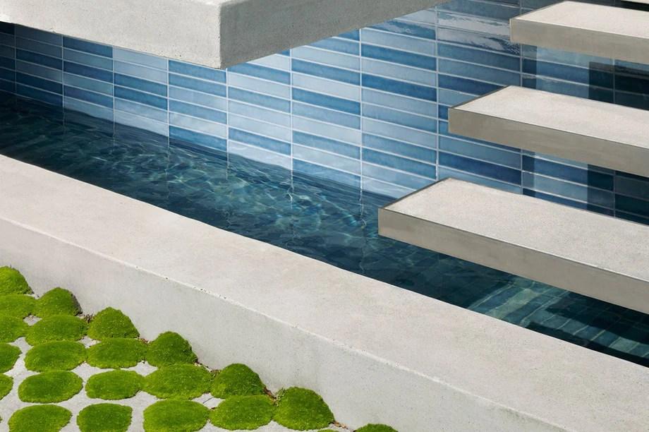 heath ceramics pool tile installations