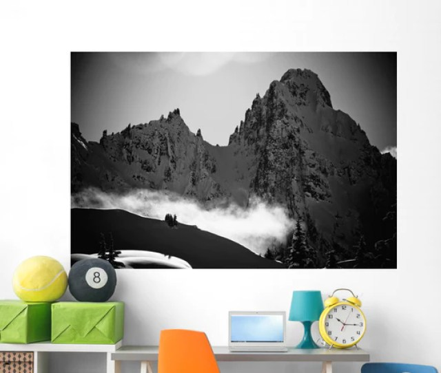 Black And White Scenic Wall Mural