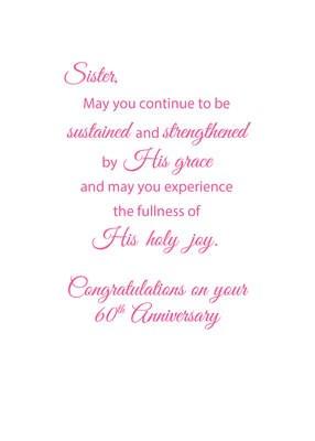 60th Anniversary Nun Religious Life Cross And Flowers Sandra Rose Designs