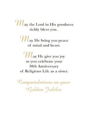 52477B Golden Jubilee Of Religious Life 50 Year Anniversary Nun Tan Sandra Rose Designs