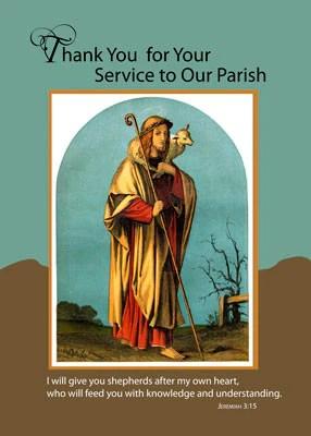 51660 Priest Thank You For Parish Service Good Shepherd Cards By Sandra Rose Sandra Rose