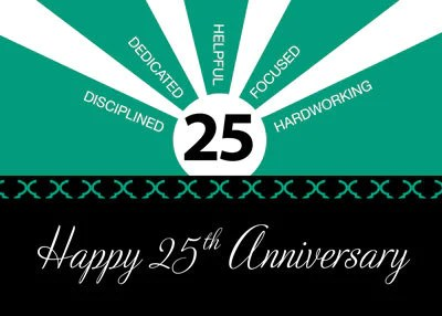 52272e 25th Year Employee Anniversary Business Green