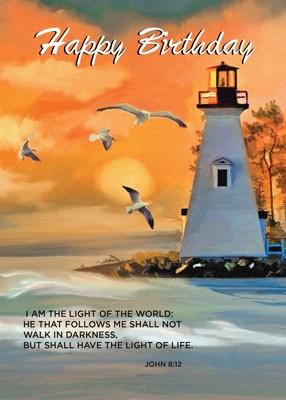 52280 Lighthouse Birthday Golden Sky Religious Sandra Rose Designs