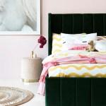 Audrey Kids Single Bed Dark Green Velvet Interior Secrets