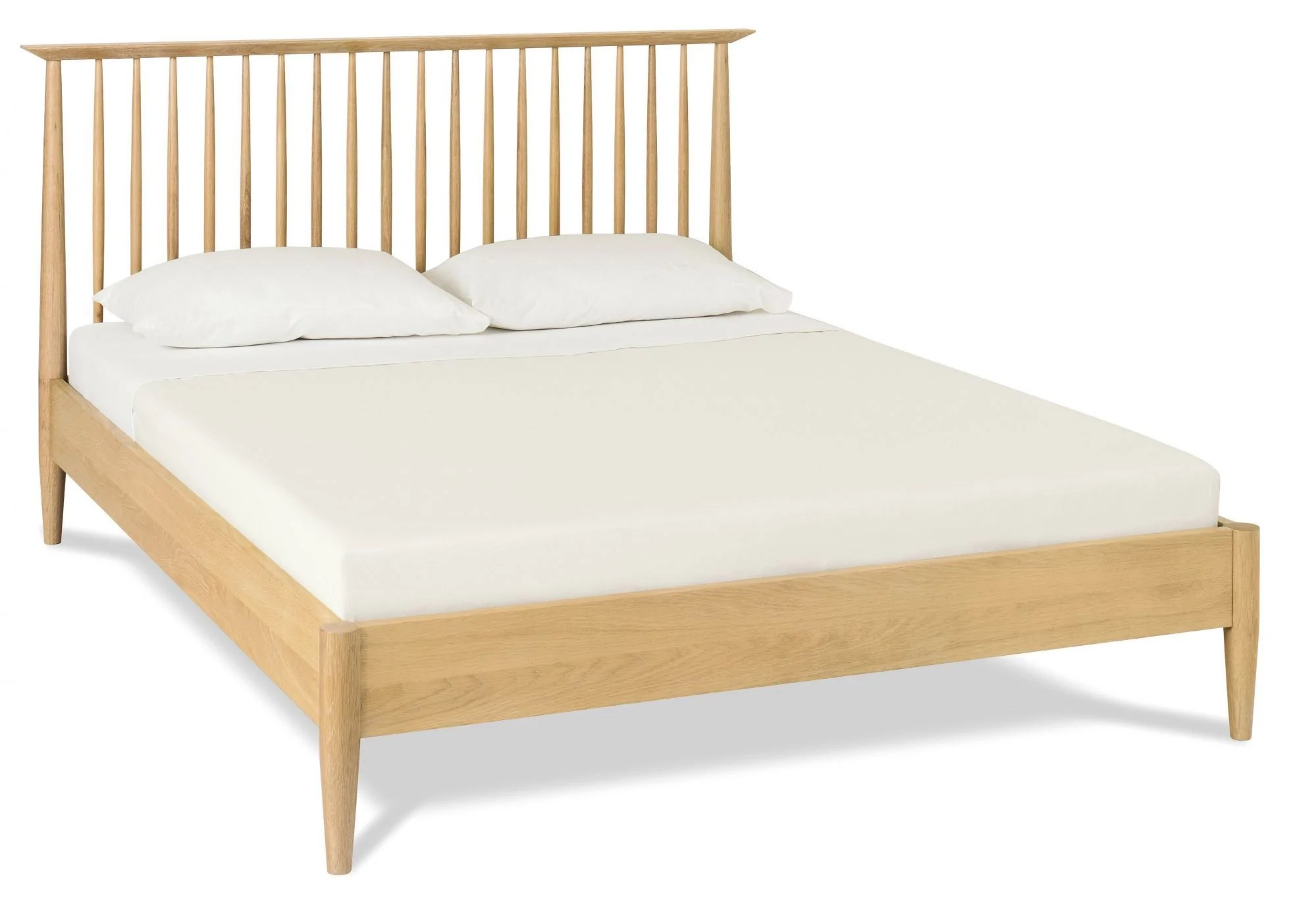 Asta 150cm Queen Low Spindle Wooden Bed Base Interior Secrets