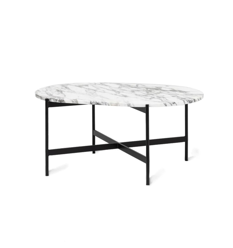 rhonde oval marble coffee table white