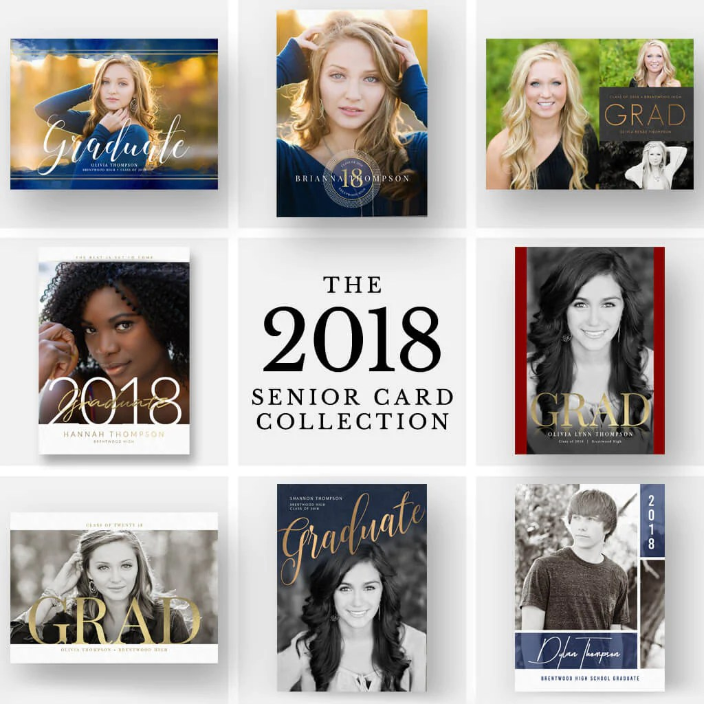 2018 Senior Card Collection 30 Designs