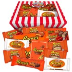 Reese S Peanut Butter American Chocolate Hamper Candy Striped Gift Box All Occasion Sweet Shop