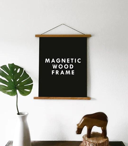 magnetic wooden poster hanger frame large