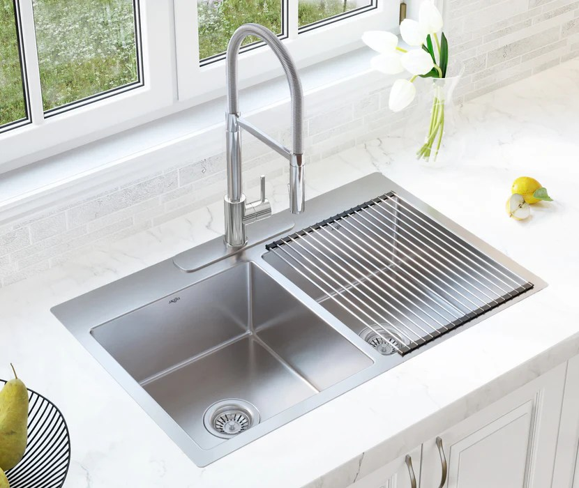 valencia series 33 in x 22 in double bowl dual mount kitchen sink