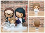 Star Wars Inspired Wedding Cake Toppers   Jessichu Creations Chic Star Wars Themed Wedding Cake Toppers   Jessichu Creations Blog