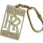 Brand New Heavy Brass Keychain For Rolls Royce Rr Logo Key Ring Antiqu Royal Spares