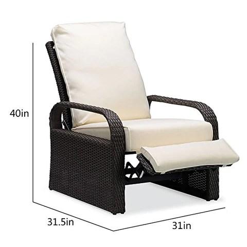 wicker recliner outdoor recliner chair patio recliner lounger babylonpatio chair