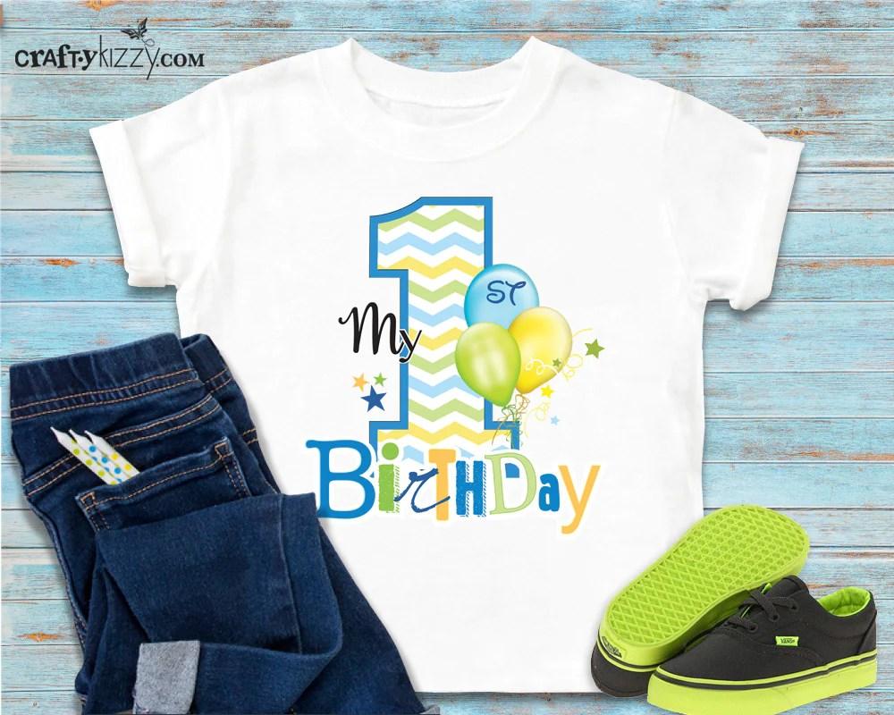 My First Birthday T Shirt I M One Tshirt 1st Birthday Shirt Boy Craftykizzy