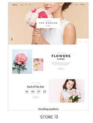 shopify Flower store
