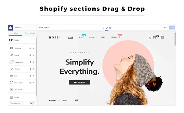 Shopify Sectioned ready