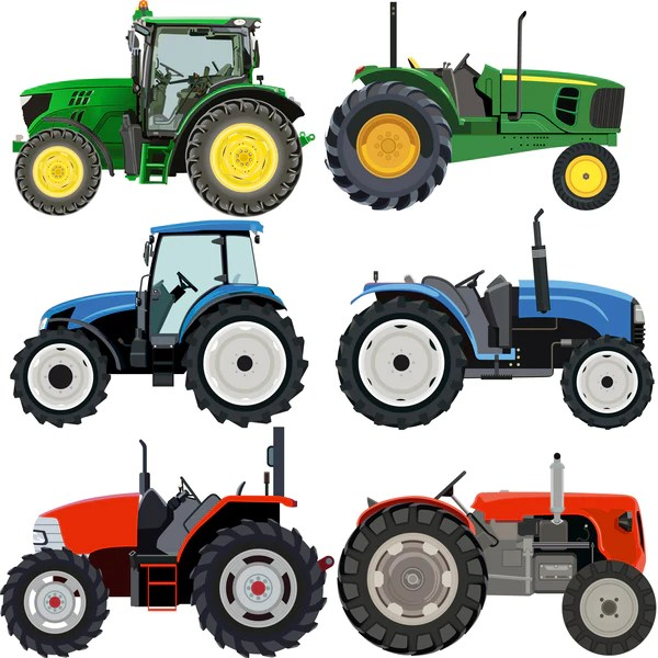 Tractor Wall Stickers Set Blue Red Amp Green Vehicle Truck